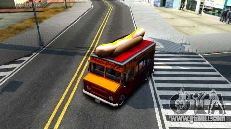 New HotDog Van for GTA San Andreas inner view