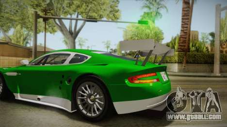 Aston Martin Racing DBR9 2005 v2.0.1 YCH Dirt for GTA San Andreas side view