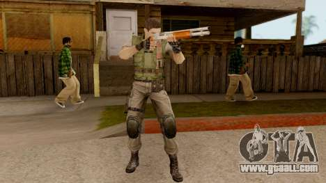Resident Evil HD - Chris Redfield S.T.A.R.S for GTA San Andreas third screenshot