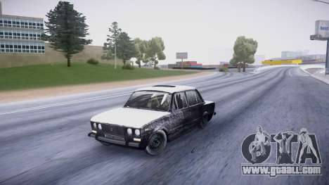 VAZ 2106 winter version for GTA San Andreas left view