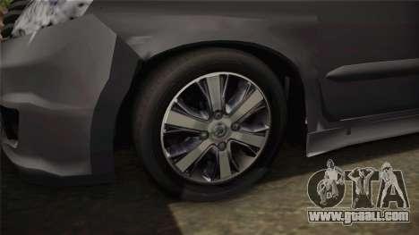 Nissan Grand Livina Highway Star for GTA San Andreas back view