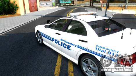 1998 Dinka Chavos Montgomery Police Department for GTA San Andreas right view