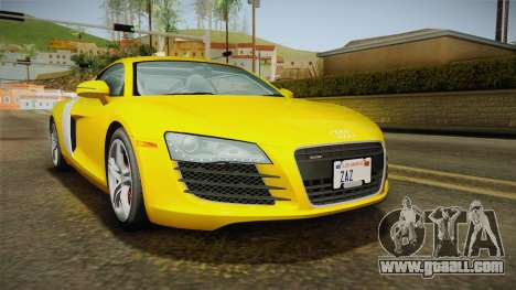 Audi R8 Coupe 4.2 FSI quattro US-Spec v1.0.0 for GTA San Andreas back left view