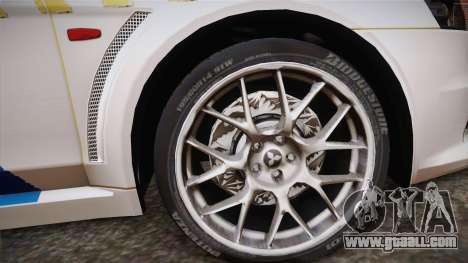 Mitsubishi Lancer Evo X Police for GTA San Andreas back left view