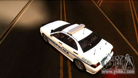 1998 Dinka Chavos Montgomery Police Department for GTA San Andreas inner view