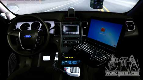 Ford Taurus Slicktop Metro Police 2013 for GTA San Andreas inner view