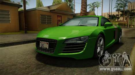 Audi R8 Coupe 4.2 FSI quattro EU-Spec 2008 for GTA San Andreas right view