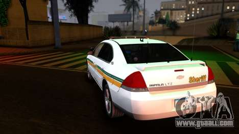 2008 Chevrolet Impala LTZ County Sheriff for GTA San Andreas back left view