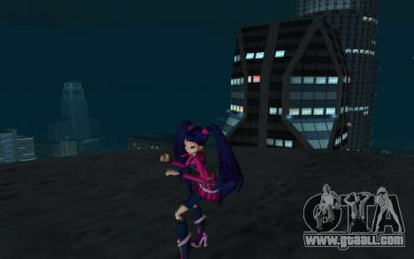 Musa Rock Outfit from Winx Club Rockstars for GTA San Andreas second screenshot