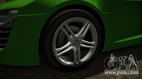 Audi R8 Coupe 4.2 FSI quattro EU-Spec 2008 for GTA San Andreas back view
