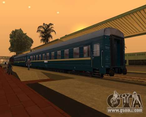 Second-class carriage for GTA San Andreas left view