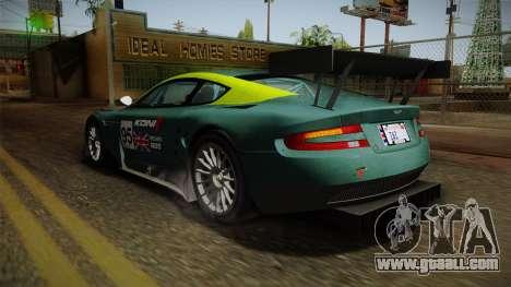 Aston Martin Racing DBR9 2005 v2.0.1 Dirt for GTA San Andreas