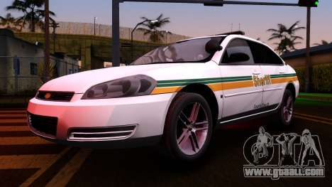 2008 Chevrolet Impala LTZ County Sheriff for GTA San Andreas inner view