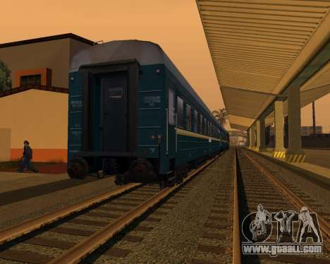 Second-class carriage for GTA San Andreas back left view