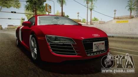 Audi R8 Coupe 4.2 FSI quattro US-Spec v1.0.0 YCH for GTA San Andreas right view