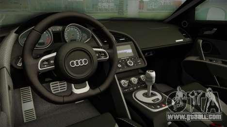Audi R8 Coupe 4.2 FSI quattro EU-Spec 2008 for GTA San Andreas inner view