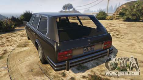 GTA 5 Glendale Station Wagon rear left side view