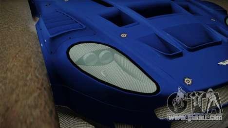 Aston Martin Racing DBR9 2005 v2.0.1 Dirt for GTA San Andreas upper view