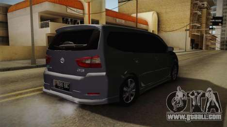 Nissan Grand Livina Highway Star for GTA San Andreas back left view