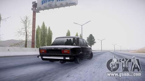 VAZ 2106 winter version for GTA San Andreas back view
