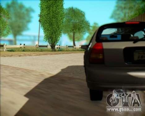 Honda Civic Hatchback for GTA San Andreas back view