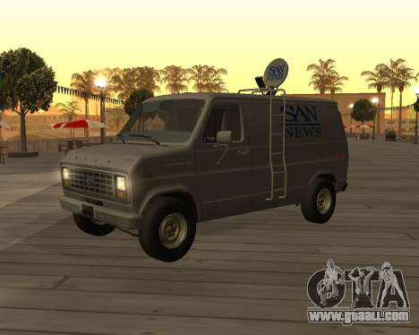 Ford E150 News Van for GTA San Andreas left view