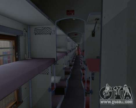 Second-class carriage for GTA San Andreas interior