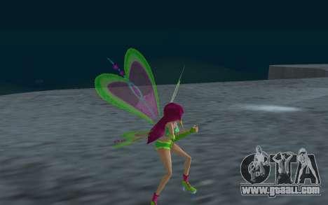 Fairy Roxy from Winx Club Rockstars for GTA San Andreas forth screenshot