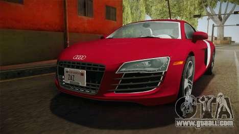 Audi R8 Coupe 4.2 FSI quattro US-Spec v1.0.0 YCH for GTA San Andreas