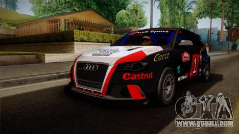 Audi RS3 Sportback Rally WRC for GTA San Andreas