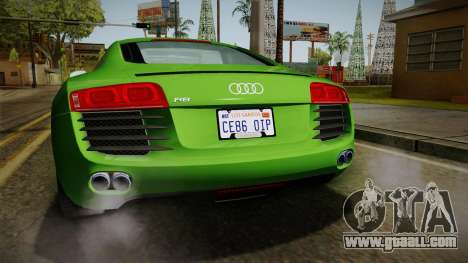 Audi R8 Coupe 4.2 FSI quattro EU-Spec 2008 for GTA San Andreas bottom view