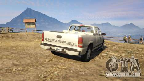 GTA 5 2000 Chevrolet Silverado 1500 rear left side view