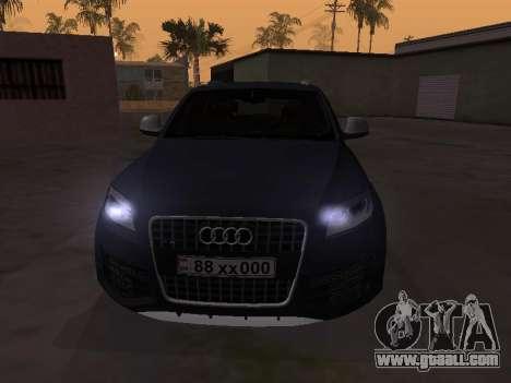 Audi Q7 Armenian for GTA San Andreas left view