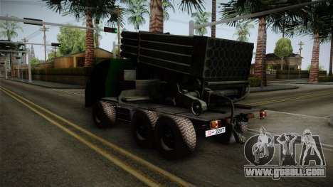 TAM 110 Serbian Military Vehicle for GTA San Andreas back left view
