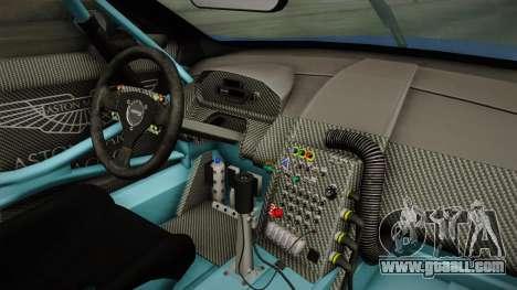 Aston Martin Racing DBR9 2005 v2.0.1 Dirt for GTA San Andreas inner view