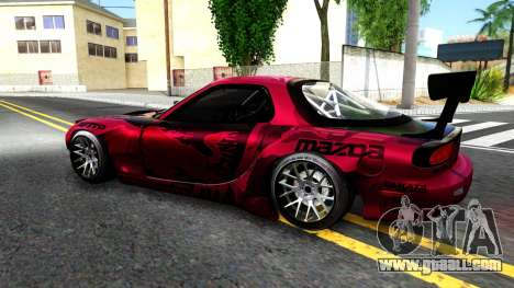 Mazda RX-7 Madbull Rocket Bunny for GTA San Andreas left view