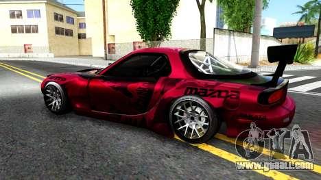 Mazda RX-7 Madbull Rocket Bunny for GTA San Andreas left view