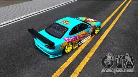 Taneshima Popura NISSAN Silvia S15 Itasha for GTA San Andreas back view