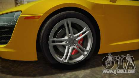 Audi R8 Coupe 4.2 FSI quattro US-Spec v1.0.0 for GTA San Andreas back view