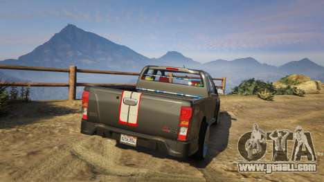 GTA 5 Isuzu D-Max X-Series 2015 rear left side view