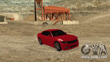 Dodge Charger R/T 2015 for GTA San Andreas right view