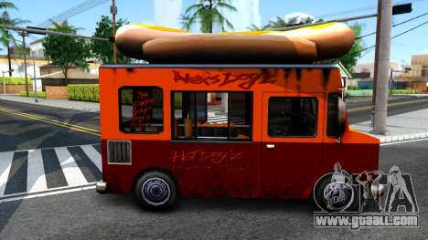 New HotDog Van for GTA San Andreas back left view