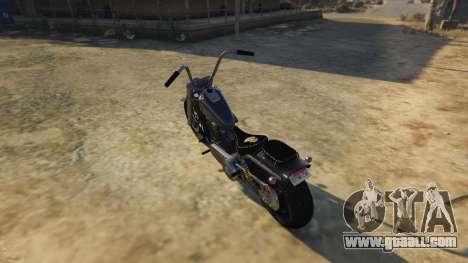 GTA 5 Daemon SOA Harley-Davidson rear left side view