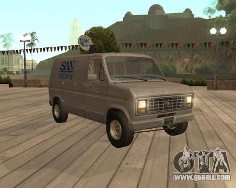Ford E150 News Van for GTA San Andreas
