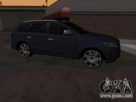 Audi Q7 Armenian for GTA San Andreas back left view