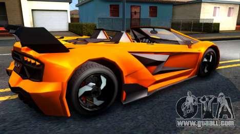 GTA V Pegassi Lampo Roadster for GTA San Andreas right view