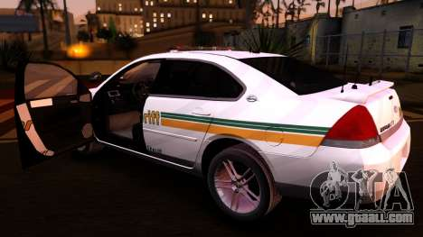 2008 Chevrolet Impala LTZ County Sheriff for GTA San Andreas back view