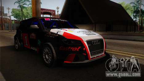 Audi RS3 Sportback Rally WRC for GTA San Andreas right view