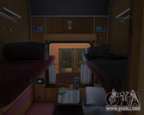Compartment car Ukrainian Railways for GTA San Andreas interior