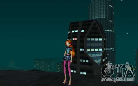 Bloom Rock Outfit from Winx Club Rockstar for GTA San Andreas second screenshot
